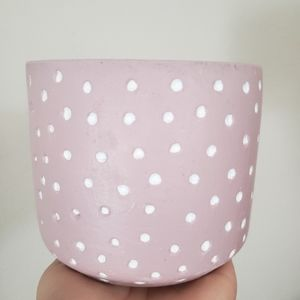 Dusty pink cement planter/pot